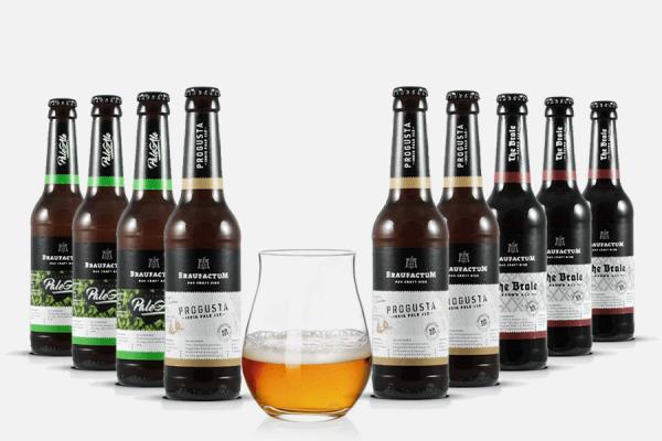 Braufactum Craft Beer Paket mit Glas