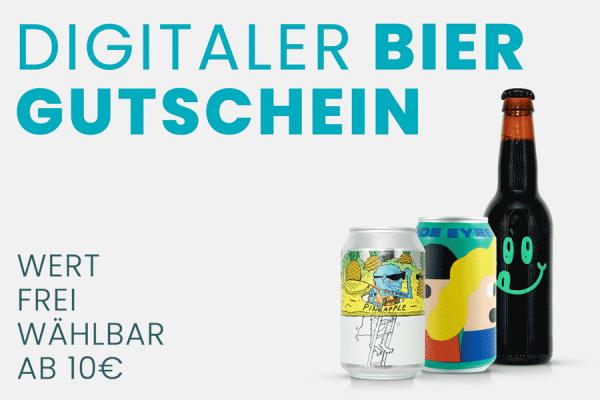 Bier Gutschein (Wert frei wählbar ab 10€)