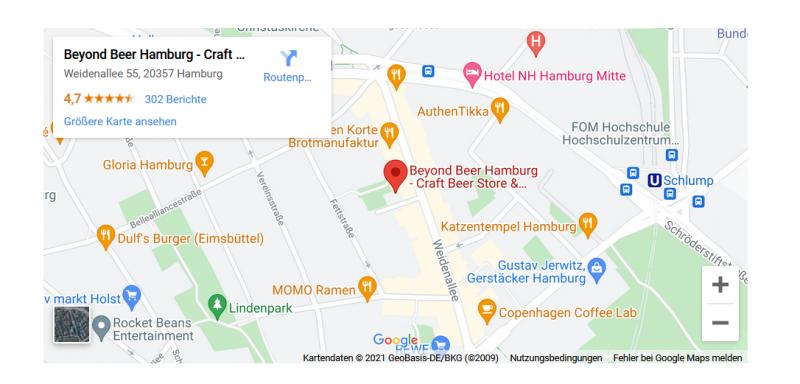 Beyond Beer Google Maps