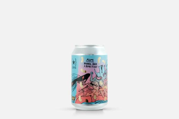 Lervig 3 Bean Stout Rum Barrel Aged 2020