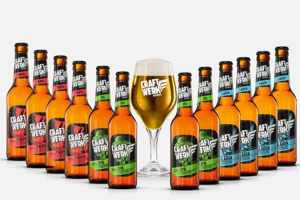 Craftwerk Brewing Craft Beer Paket mit Glas